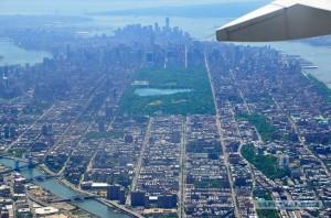 Нью-Йорк из самолета
